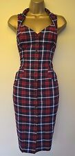 All Saints Vinca 8 Immaculate Tartan Check Wedding races Cruise Pencil Dress