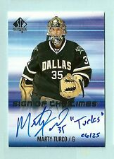 "MARTY TURCO 2015/16 SP AUTHENTIC SIGN OF THE TIMES INSCRIBED AUTO /25 ""TURKS"""