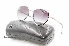 CHANEL 4206 108/S6 Gunmetal Gray Gradient Oval Sunglasses NWC AUTH 2016