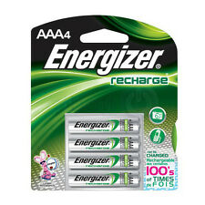 Energizer Recharge AAA 4 Pack Batteries - Can Be Charged, Rechargeable, 850 Mah