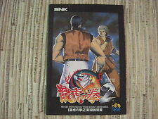 ART OF FIGHTING 2 RYUKO NO KEN 2 NEO GEO NEOGEO AES GAME MANUAL ORIGINAL USADO