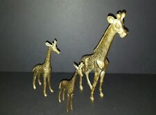 Lot of 3 Solid Brass Giraffes