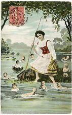 ENFANTS MULTIPLES. CHILDREN. BéBéS. BABIES. LA PECHE. FISHING