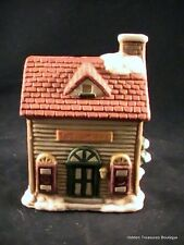Miniature Porcelain Christmas Village Votive Holder-Toy Shoppe