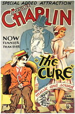 Charlie Chaplin 'The Cure' 1917 Classic Repro Silent Movie Poster