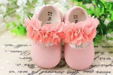 Nouvelles Filles De Bébé Roses Fête Chaussures De Baptême 9-12 Mois