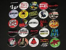 Assorted 80's New Wave Buttons /  Pins 25 Set B