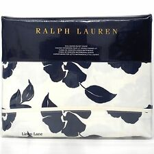 RALPH LAUREN Modern Glamour QUEEN DUVET COVER Navy Cream COTTON Serena Floral