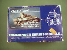 Commander Series 1/35 Resin Model Kit Japanese Chi-He Type 1 Tank Conversion Set
