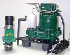 Zoeller M-53 1/3 hp Sump Pump w Check Valve & Stand M53