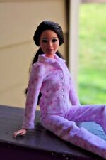 Clothes for Barbie Doll. Light Pink Flannel Pajamas for Dolls.