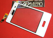 VETRO+TOUCH SCREEN per LG E400 OPTIMUS L3 per LCD DISPLAY VETRINO COVER BIANCO