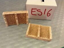 2 X BRIDGE RETAIN WALLS SECTIONS -N Scale N Gauge- 'STEPPED STYLE '