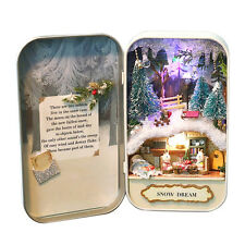 Hot Sale DIY Dollhouse Snow Dream Miniature Furniture Theater Box Christmas Gift