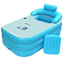 NEW Adult PVC folding Portable bathtub inflatable bath tub Air Pump Fast Ship