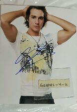 James Maslow Signed Autograph COA proof b