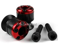Red 8mm Carbon fiber Swingarm Sliders Spools For Honda CBR RC51, VTR1000 CNC