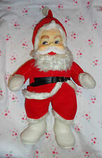"Vintage Rushton SANTA CLAUSE 16"" Rubber Face & Boots Christmas Stuffed Lovely!"