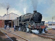 "Black 5 4-6-0 LMS Railway Engine Steam Loco Train Art Painting Picture 14"" Print"