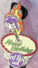 Hard Rock Cafe HAPPY BIRTHDAY Flaming Guitar & CAKE PIN with NO SPRINKLES #44424