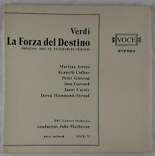 Verdi: La Forza del Destino Opera/Matheson + BBC Voce 3LP Box Set VOCE-72 NM