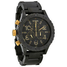 AUTHENTIC NIXON 42-20 CHRONO WATCH MATTE BLACK/GOLD A0371041