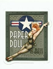 SEXY PINUP NOSE ART  GIRL ARMY AIR CORPS AIR FORCE   Vinyl Sticker Decal