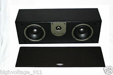 "AudioSource LS2C Center Channel Speaker - Dual 4"" Woofers / 3/4"" Tweeter 100W"