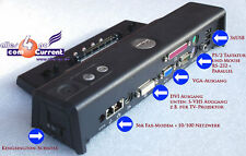Dell Port Replicator Docking station Latitude Precision m20 m60 m65 m70 m2300 OK