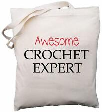 Awesome Crochet Expert - Natural Cotton Shoulder Bag - Gift