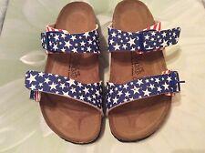 Birki's Birkenstock Skorpio Sandals Patriot Stars Stripes WOMENS U.S. 7N EU 38