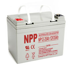 NPP 12V 35 Amp 12 Volt 35Ah UPS DC Power Deep Cycle AGM SLA Battery