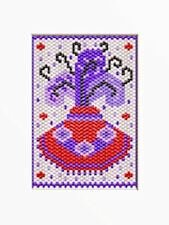 Welcome To The Red Hat Society~Beaded Banner Pattern Only