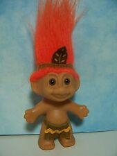 "NATIVE AMERICAN INDIAN BOY - 3"" Russ Troll Doll - NEW IN ORIGINAL WRAPPER"
