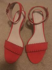 Monsoon Ladies  Strappy Shoes Sandals size 6 Orange/red Summer New Rrp £59