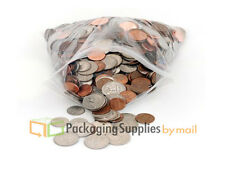 200pcs 3x4 Small Clear 4 Mil Poly Bag Reclosable Plastic Jewelry Baggies