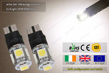 2x LED T10 W5W 501 3500k Xenon White Strobe Police Flash Bulbs Car Sidelights