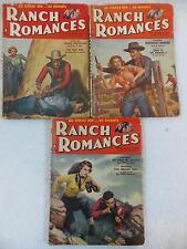 Lot of 3 RANCH ROMANCES August October & November 1956 Ketchum Ellis Frank Smith