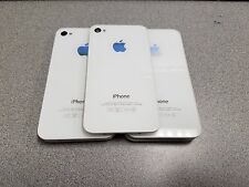 iPhone 4 A1332 Factory Replacement Rear Glass Back Cover Door White Lot of 5