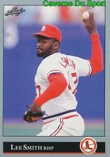 254   LEE SMITH    ST. LOUIS CARDINALS  BASEBALL CARD LEAF 1992