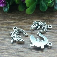 Free Shipping 10pcs13x14mm Cangy Crocodile Charm Pendant beaded Jewelry Findings