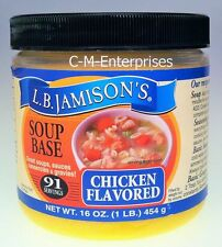 L B Jaminson's Chicken Flavored Soup Base 16 oz Jaminsons