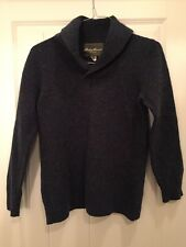 Ladies Eddie Bauer Lambs Wool Pull Over Sweater Size XL Blue Women's Lambswool