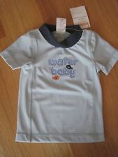 Baby Boy GYMBOREE WATER BABY FISH LIGHT BLUE SWIM RASH GUARD SHIRT NWT 3m 6m