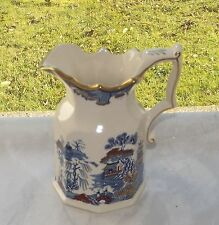 Masons Ironstone England Gold Willow Pattern Octagonal Jug 3/4 Pint 1st Quality