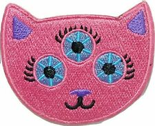 Three Eyed Cat embroidered cloth iron on patch for vintage bike backpacks funny