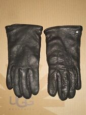 UGG Australia Men's Tech LEATHER GLOVES Black MEDIUM NWOT MSRP $145