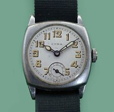 Vintage WWI Trench Officer Military Watch Cyma Tavannes & Tacy Watch Co #2