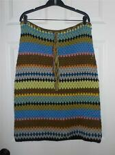 James Coviello for Anna Sui Multi Color Alpaca Wool Knitted Skirt NWOT S