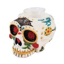 Dia de Los Muertos Tea Light Candle Holder Day Of The Dead Skull DOD Candy Skull
